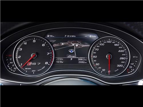 Audi RS 7 Sportback performance 2016 приборная панель