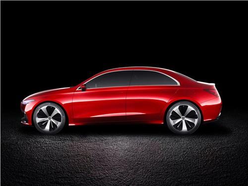 Предпросмотр mercedes-benz a sedan concept 2017 вид сбоку
