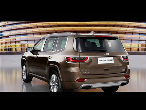 Предпросмотр jeep grand commander 2018 вид сзади