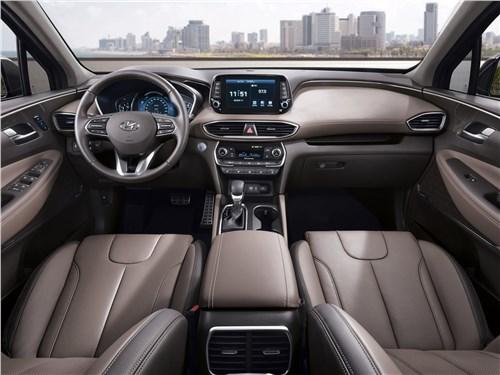 Hyundai Santa Fe и Renault Koleos: внешность имеет значение Santa Fe - Hyundai Santa Fe 2019 салон