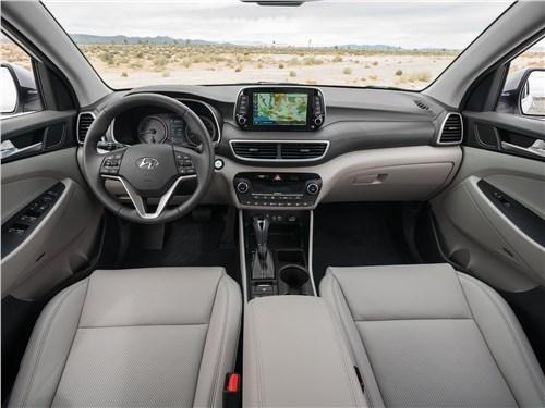 Доступная проходимость (Chevrolet Captiva, Hyundai Santa Fe Classic, Hyundai Tucson, Kia Sportage, Mitsubishi Outlander, Nissan Qashqai, Suzuki Grand Vitara, Suzuki Jimny, Suzuki SX4) Tucson - Hyundai Tucson 2019 салон