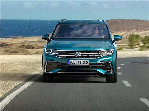 Попробуй, догони! Tiguan - Volkswagen Tiguan (2021) вид спереди