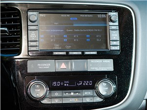 Mitsubishi Outlander 2014 центральная консоль