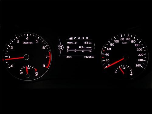 Kia Optima GT-Line 2016 приборная панель