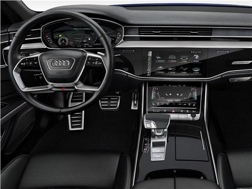 Короли скорости (Audi S8, Bentley Arnage T, Maserati Quattroporte Sport GT, Maybach 57S, Mercedes-Benz S63 AMG, Mercedes-Benz S65 AMG) S8 - Audi S8 2020 салон