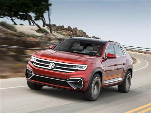 Новость про Volkswagen - Volkswagen Atlas Cross Sport Concept 2018