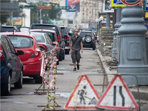 Власти Москвы отказались от дорожных работ из-за эпидемии
