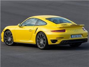 Предпросмотр porsche 911 turbo 2013 вид сзади 3/4