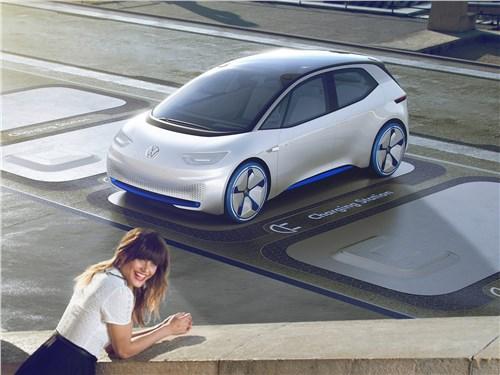 Предпросмотр volkswagen i.d. concept 2016 вид спереди сверху