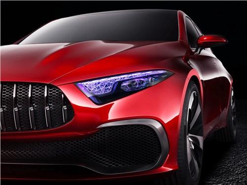 Предпросмотр mercedes-benz a sedan concept 2017 передняя фара