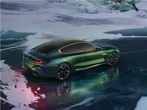 Предпросмотр bmw m8 gran coupe concept 2018 вид сзади сверху