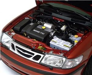 Предпросмотр saab 9-3 2001 подкапотное пространство автомобиля с дизельным двигателем