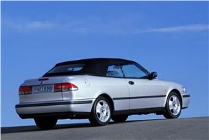 Предпросмотр saab 9-3 2001 кабриолет вид сзади справа с закрытой крышей