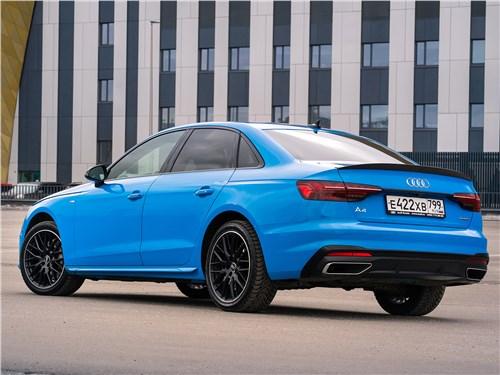 Audi A4 (2020) вид сзади