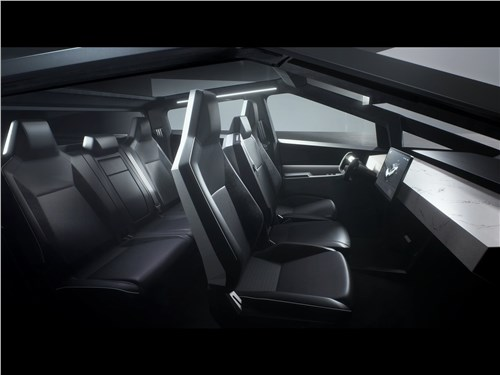 Предпросмотр tesla cybertruck 2022 салон