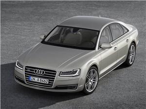 Мечты сбываются (Audi A8,BMW 7 Series,Jaguar XJ,Lexus LS,Mercedes-Benz S-Klasse,Volkswagen Phaeton) A8 - Audi A8 2014 вид сверху