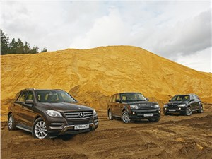 Mercedes-Benz M-Class, Land Rover Range Rover Sport, BMW X5