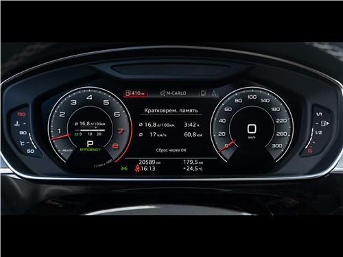 Audi A8 L 55 TFSI quattro 2018 приборная панель