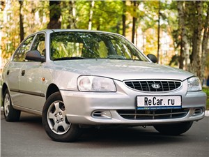 Hyundai Accent 2001 вид спереди
