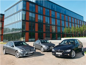 Audi A4, BMW 3 series, Mercedes-Benz C-Class