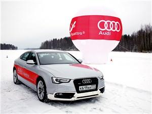 Audi A7 Quattro на снегу