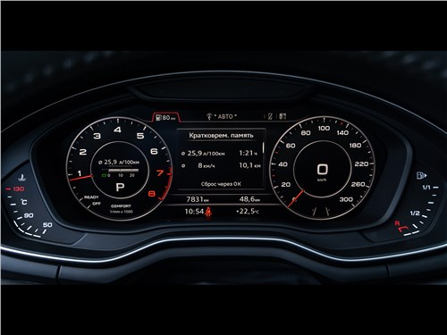 Audi A4 2016 приборная панель