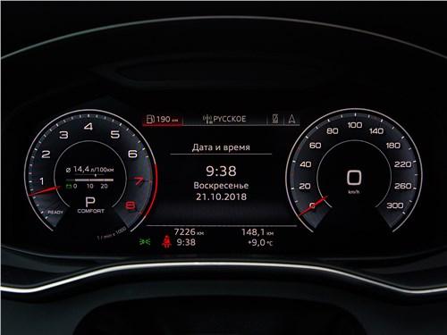 Audi A7 Sportback 2018 приборная панель
