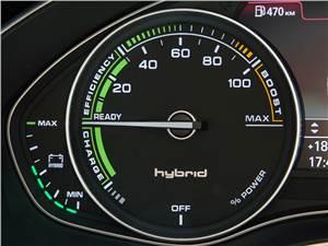 Audi A6 Hybrid 2012 индикатор состояния электродвигателя