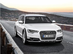 Audi A6 allroad quattro 2013 вид спереди