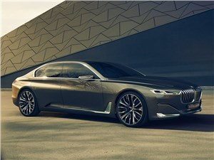 Предпросмотр bmw vision future luxury concept 2014 вид сбоку спереди