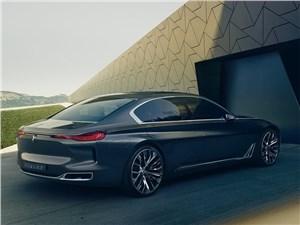 Предпросмотр bmw vision future luxury concept 2014 вид сзади сбоку