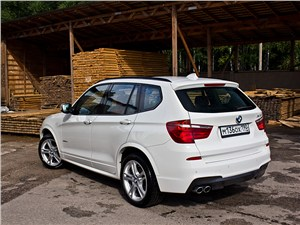 BMW X3 2010 вид сзади