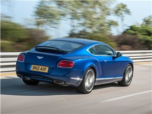 Bentley Continental GT Speed 2013 вид сзади