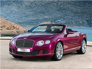 Bentley Continental GT Speed Convertible 2014 вид спереди