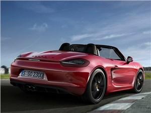 Porsche Boxster GTS 2014 вид сбоку сзади