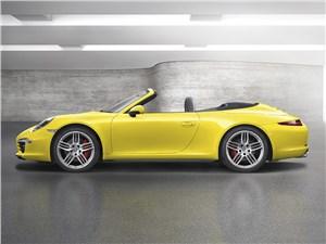 Предпросмотр porsche 911 carrera 4s cabriolet 2011 вид сбоку