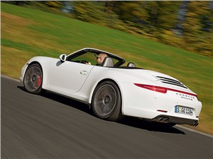 Предпросмотр porsche 911 carrera 4s cabriolet 2013 вид сзади