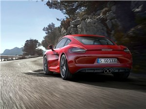 Porsche Cayman GTS 2014 вид сзади