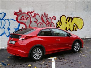 Honda Civic 2012 вид сзади