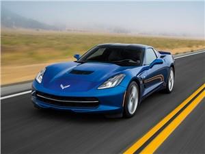 Предпросмотр chevrolet corvette stingray c7 2013 синий вид спереди