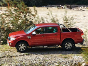 Практичный квинтет (Ford Ranger, Mazda B, Mitsubishi L200, Nissan Navara, SsangYong Musso Sports) Ranger - Ford Ranger 2012 вид сбоку