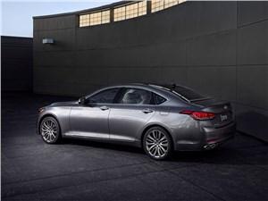 Hyundai Genesis - Hyundai Genesis 2014 вид сбоку сзади