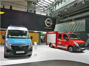 Фургоны Opel Movano для полицейских и пожарных служб