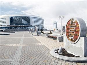 """К """"Минск-Арене"""" ведет аллея славы белорусских олимпийцев"""