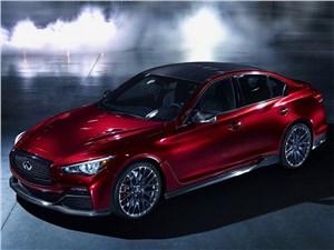 Предпросмотр infiniti q50 eau rouge concept 2014 вид спереди сбоку