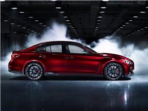 Предпросмотр infiniti q50 eau rouge concept 2014 вид сбоку