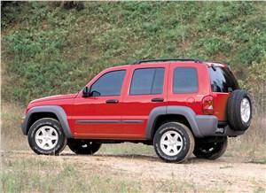 Jeep Cherokee 2001 вид слева сзади
