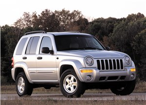 Предпросмотр jeep cherokee 2001 на асфальте в статике