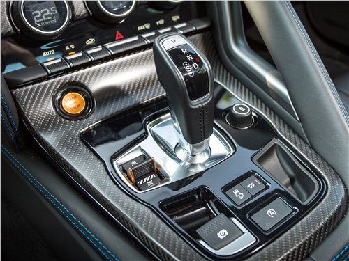 Jaguar F-Type S AWD Coupe 2016 управление трансмиссией