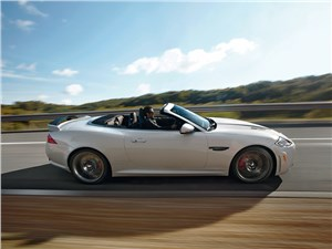 Jaguar XКR-S Convertible 2013 вид сбоку